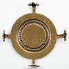 """Сеттинг - основа """"Черепашка"""" для камеи или кабошона 30 мм (оксид латуни)"""