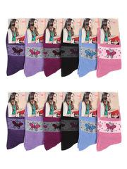 6102 носки женские, цветные 37-41 (12шт.)