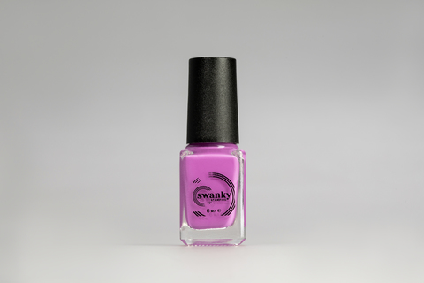 Лак для стемпинга Swanky Stamping №016, неоново-розовый, 6 мл.