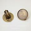 Основы для клипс с сеттингом для кабошона 18 мм (цвет - античная бронза), пара