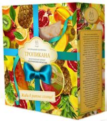 Подарочный набор Тропикана,шар бодрящий грейпфрут, маффин фрукт ваза, мыло фрукт.ваза, ТМ Мыловаров