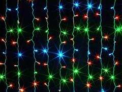 m03.5T100+ гирлянда-занавес 100 LED Мульти 1,5х1м., 12 нитей