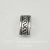 Разделитель на 2 нити (цвет - античное серебро) 10х5х4 мм