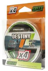 Шнур рыболовный FREEWAY DESTINY GREEN *4