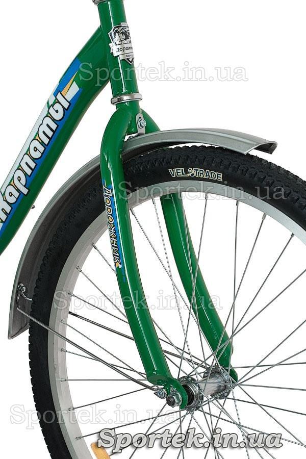 Жесткая вилка городского универсального подросткового велосипеда Дорожник Карпаты 2015
