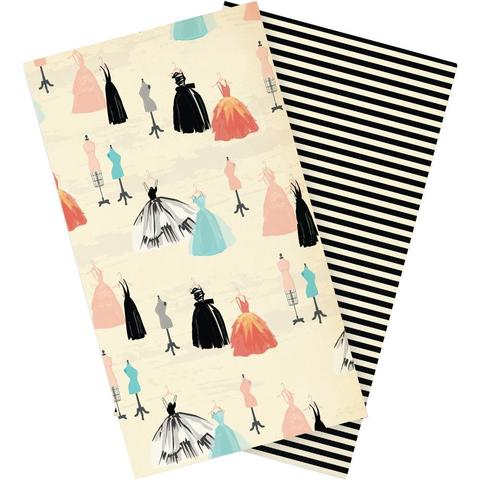 Набор внутренних блоков для тревелбука  - 11х21 см-Echo Park Traveler's Notebook - Metropolitan Girl Lined- 2 шт