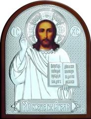 Серебряная икона Иисуса Христа Спасителя 25х19см