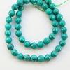 Бусина Бирюза (искусств), шарик с огранкой, цвет - зеленый, 8 мм, нить