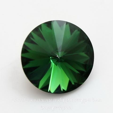 1122 Rivoli Ювелирные стразы Сваровски Dark Moss Green (14 мм) (1)
