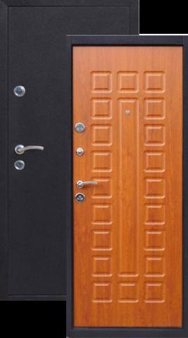 Дверь входная Йошкар Дуб золотистый , 2 замка, 1,2 мм  металл, (медь антик+дуб золотистый)