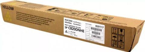 Принт-картридж Ricoh SP C820, желтый. Ресурс 15000 стр. (820117)