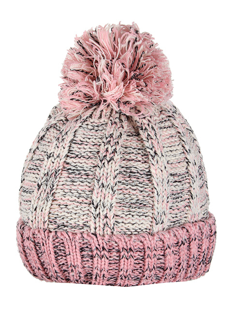 HT1804-2 шапка женская, розово-бежевая