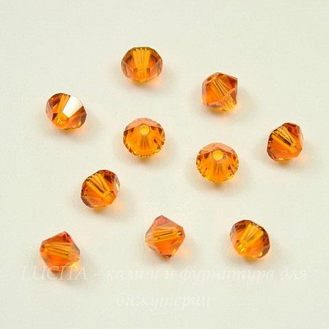 5328 Бусина - биконус Сваровски Tangerine 4 мм, 10 штук