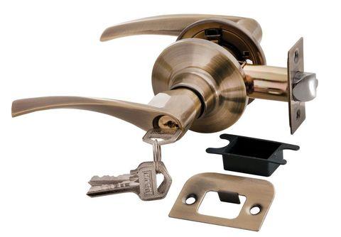 Фурнитура - Ручка Нажимная с ключом-завёрткой Rucetti HK-02 L, цвет бронза античная