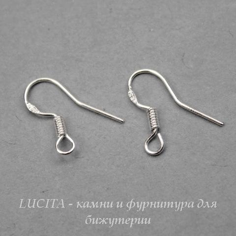 Швензы - крючки с пружинкой, 14х9 мм (цвет - серебро), пара