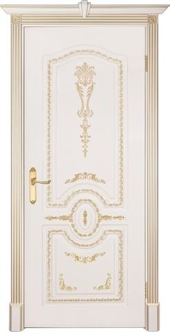 Дверь Prestigio Натоли, цвет слоновая кость/патина золото, глухая