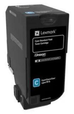 Тонер-картридж для принтеров Lexmark CS720 голубой (cyan). Ресурс 7000 стр (74C0S20)