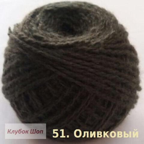 Пряжа Карачаевская Оливковый 51, фото