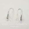 Швензы - крючки с сеттингом для страза 3,5 мм, 28х12 мм  (цвет - серебро), пара
