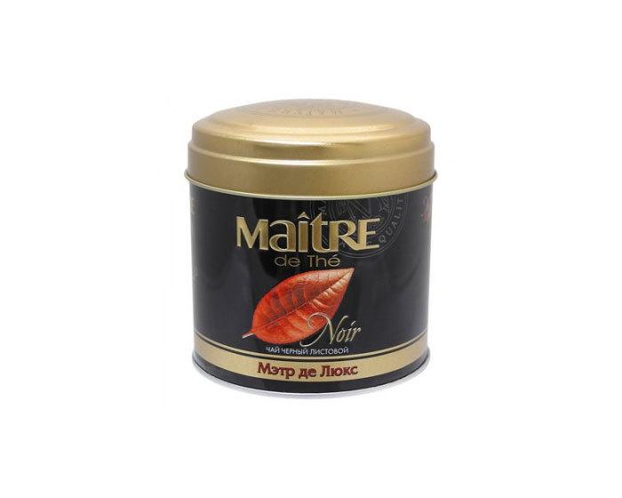 Чай черный листовой Maitre Де Люкс, 100 г (Мэтр)