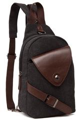 Однолямочный рюкзак RRX A023 Темно-серый