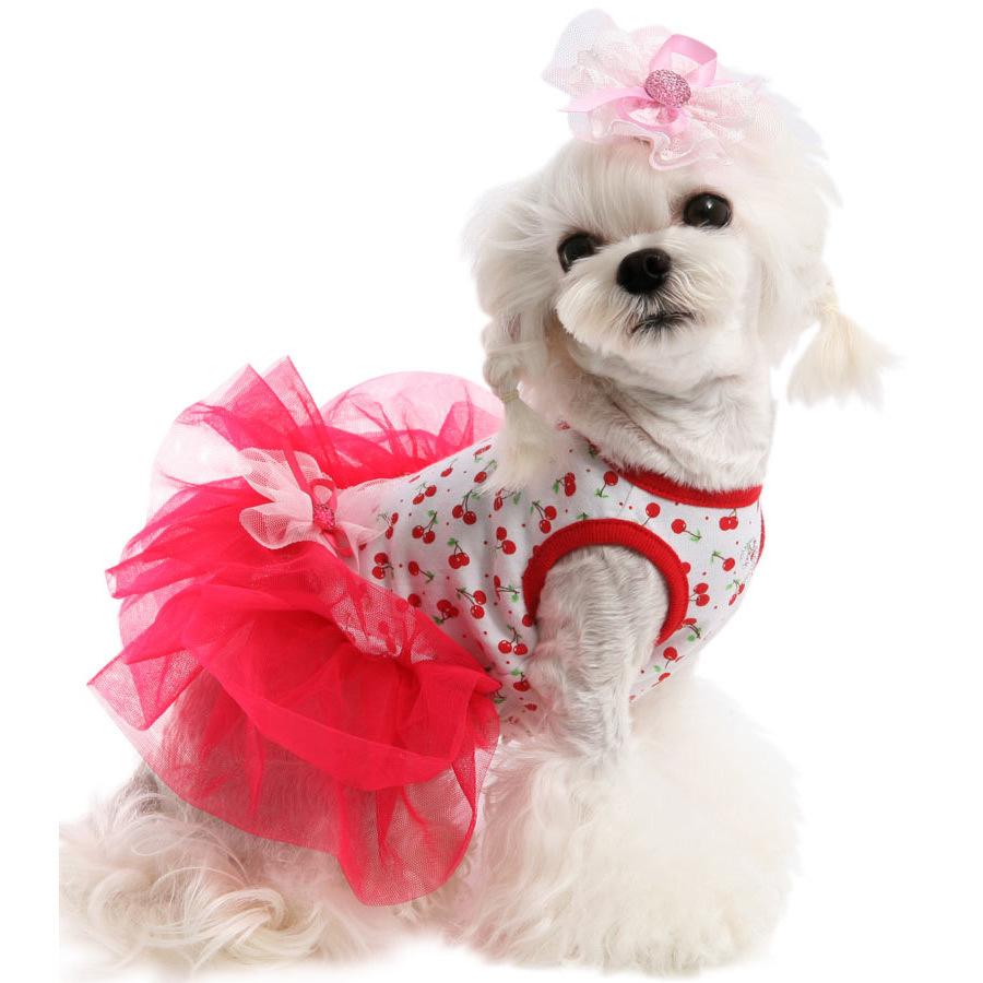 платье с пышной юбкой для собак
