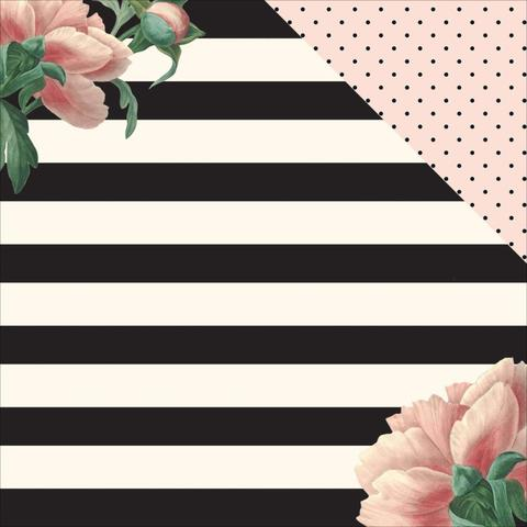 "Лист двусторонней бумаги  30 х30см из коллекции  ""In Bloom"" - MME"