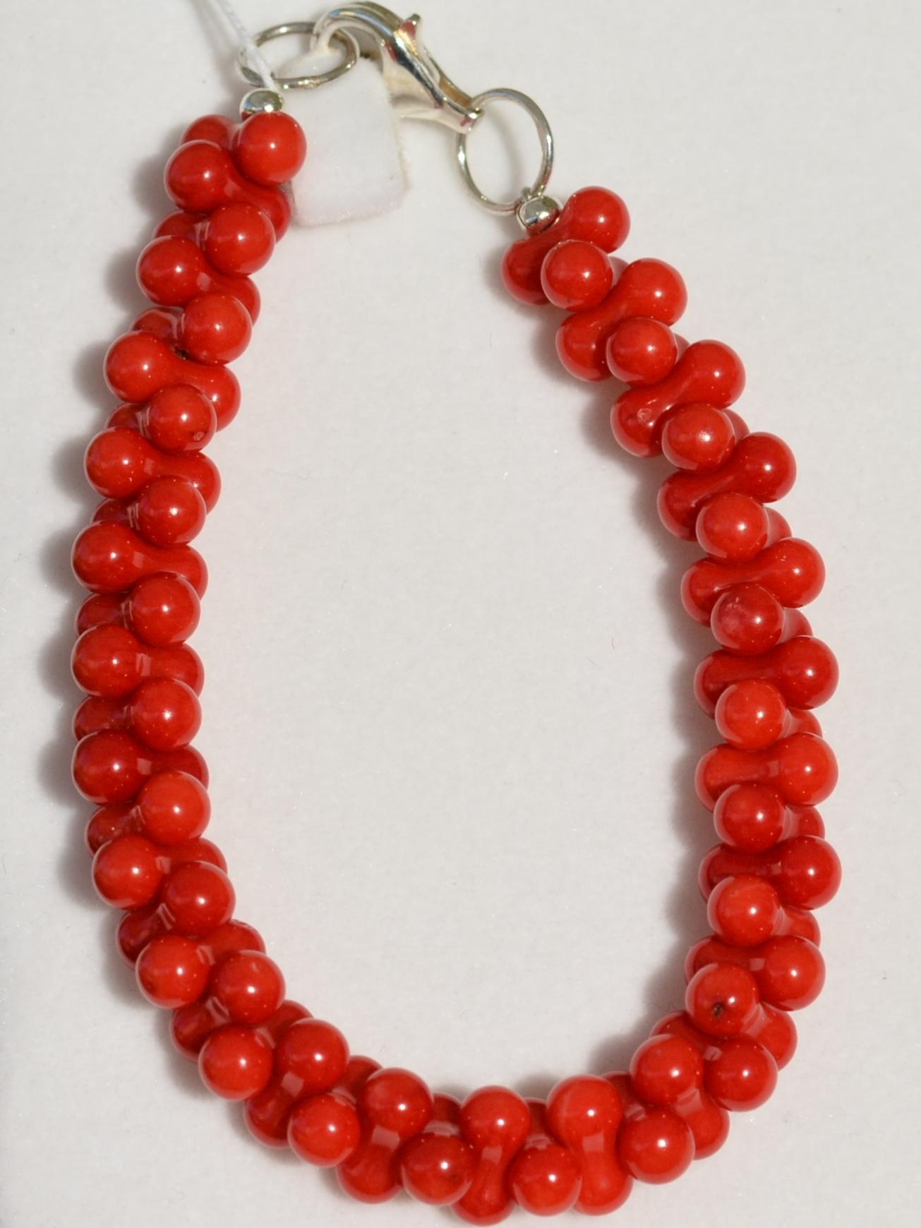 Коралл-аа (браслет из натуральных камней)