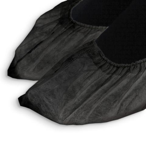 Одноразовые носки черные, спандбонд, 100 шт./уп.