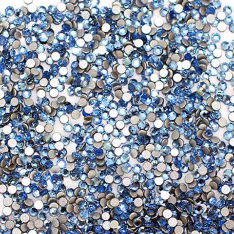 Стразы стекло, ss4-2мм Голубые 50 шт