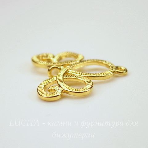 "Коннектор ""Ажурный"" (1-1) 20х20 мм (цвет - золото)"