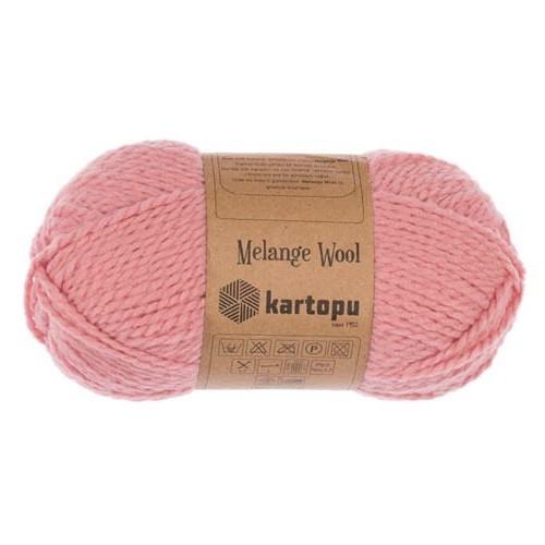 Пряжа Kartopu Melange Wool арт. 2116 розовый