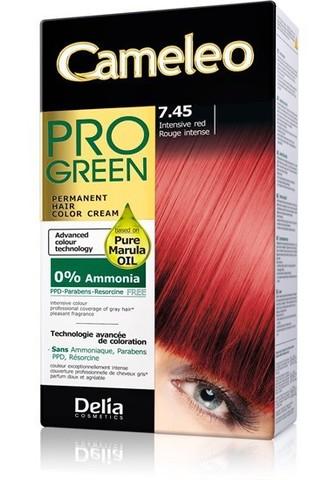 Delia Cosmetics Cameleo Pro Green Краска для волос тон 7.45 интенсивный красный