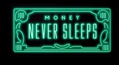 """Постер """"Деньги не спят"""""""