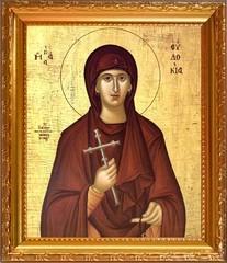 Евдокия Илиопольская Преподобномученица, игумения. Икона на холсте.