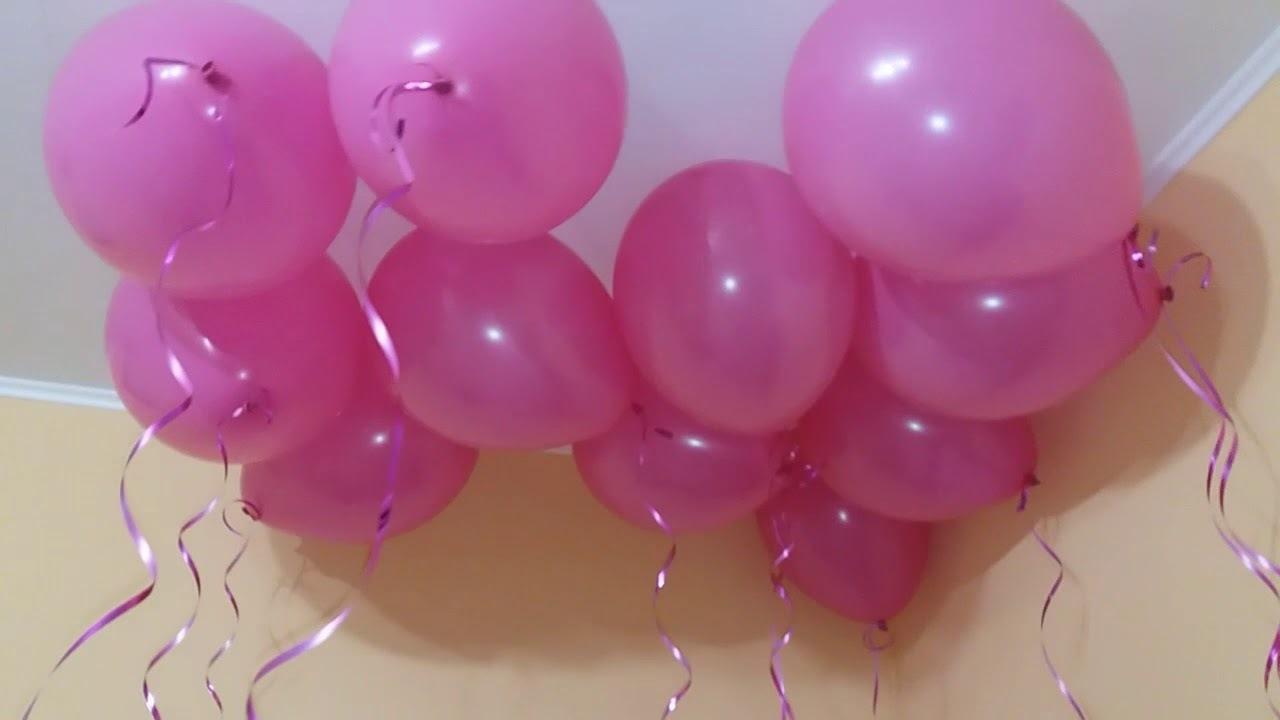 Розовые воздушные шары (фото 3)