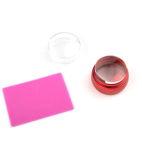 Штамп для стемпинга большой плоский TNL - металлический красный