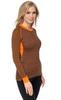 Терморубашка из шерсти мериноса Norveg Climate Control Black-Orange женская