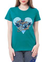 461134-22 футболка женская, бирюзовая