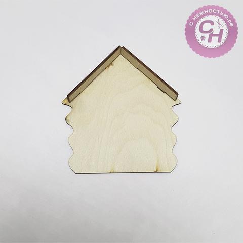Ключница-домик с козырьком, 14 см × 15 см × 0,7 см, деревянная, 1 шт.