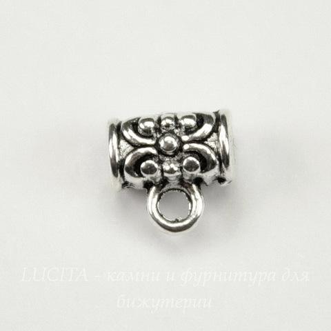 Бейл 7х4 мм  (цвет- античное серебро)