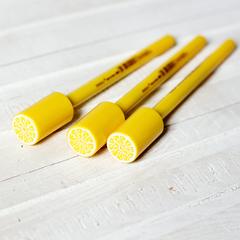 Ручка черная гелевая Bescu Lemon