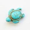 """Бусина Говлит (тониров), """"Черепашка"""", цвет - бирюзовый, 17х14х7 мм, нить"""