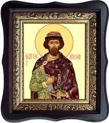 Мстислав (Феодор) Благоверный Князь. Икона на холсте.
