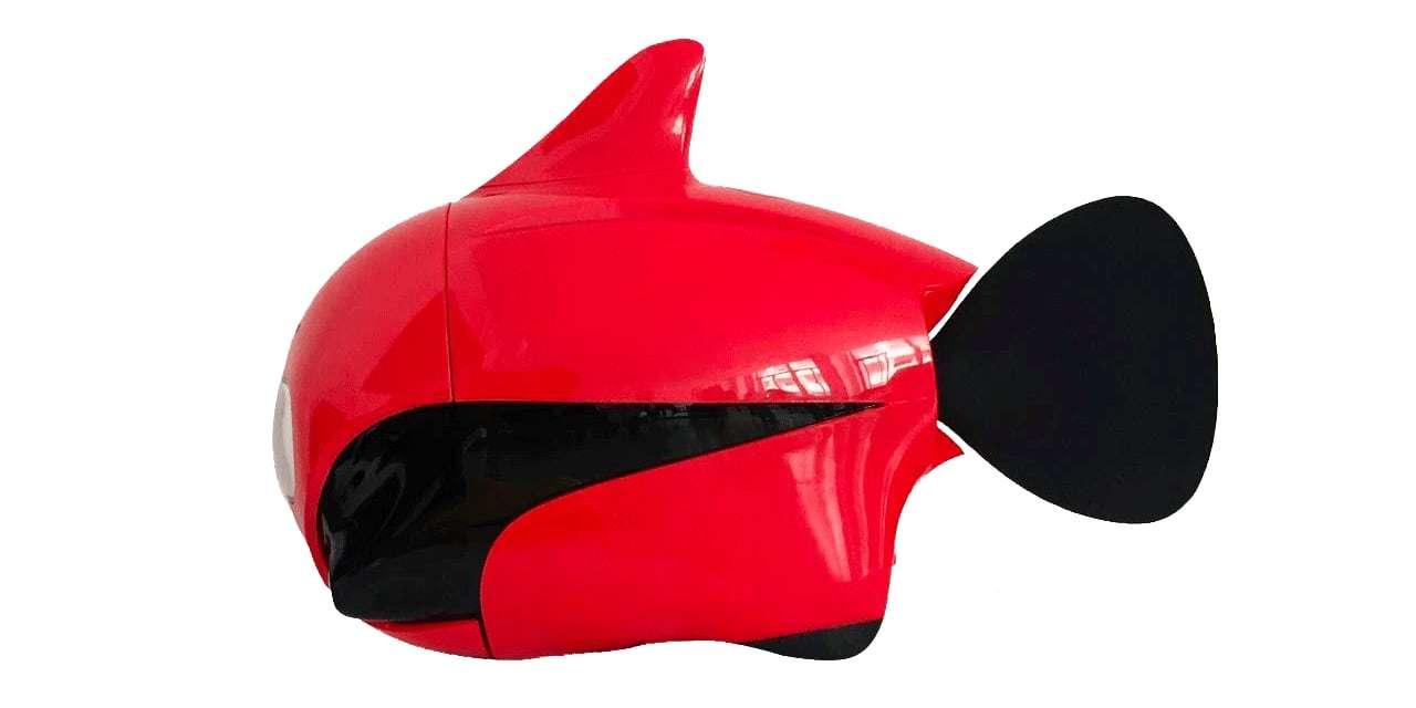 Подводный дрон RoboSea BIKI V1.0 красный вид сбоку