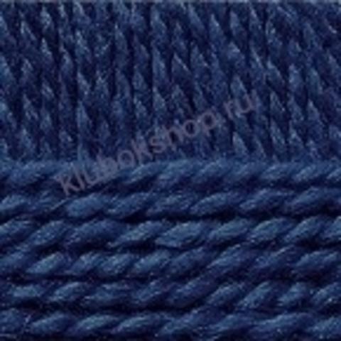 Пряжа Осенняя (Пехорка) цвет 04 темно-синий