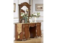 Туалетный столик с зеркалом и банкеткой Юлиана (MK-3012-BR) Темный орех