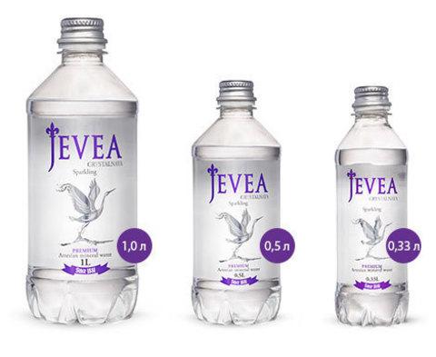 Вода Jevea Crystalnaya газированная, 1 л