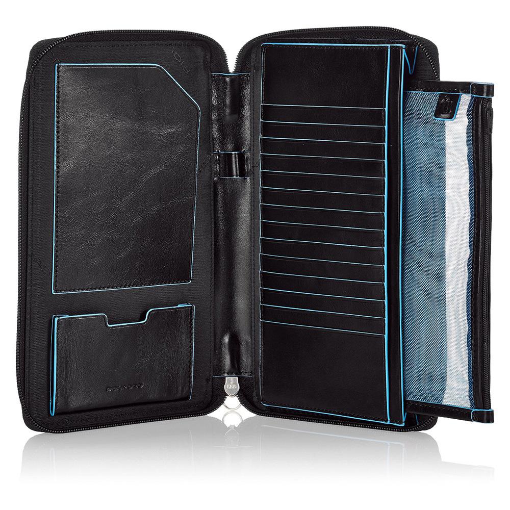 Мультипортмоне Piquadro Blue Square, цвет черный, 22,5х6х2,5 см (PP3246B2/N)