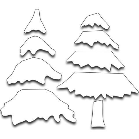 Набор ножей -Snowy Layered Tree,